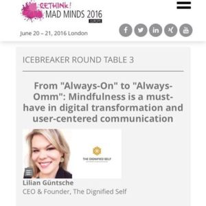 Mindfulness Session by Lilian Güntsche at MAD MINDS 2016